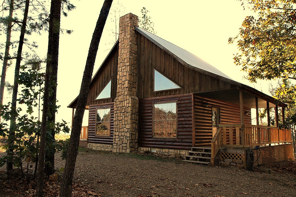 Sold Log Cabins For Sale In Oklahoma Heven S Hideaway